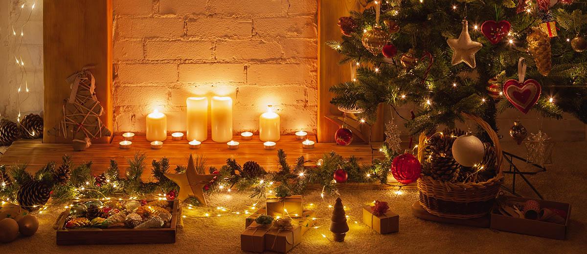 Seguridad luces de Navidad en casa